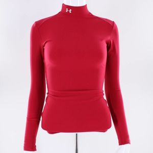 Under Armour Red Long Sleeve Exercise Top S